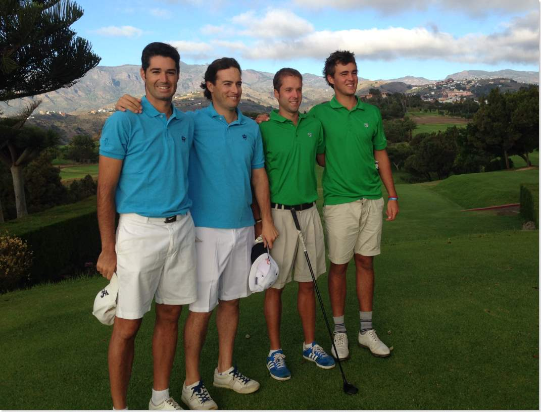Los canarios Pablo Montesdeoca y Óscar Sánchez, campeones de España de golf en Dobles Masculino.