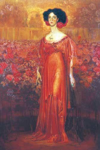 Dama de rosas